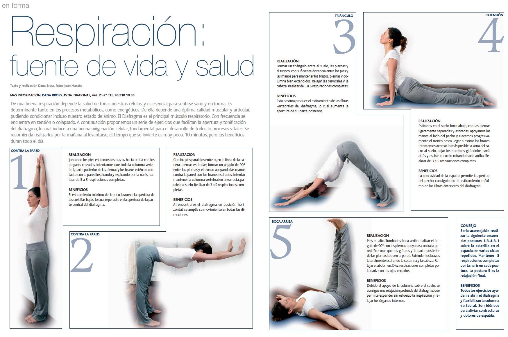 Respiración: fuente de vida y salud (Artículo en Barcelona